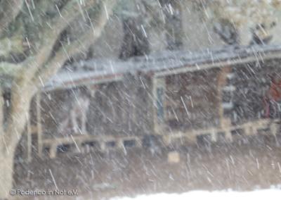 erneutes Schneegestöber